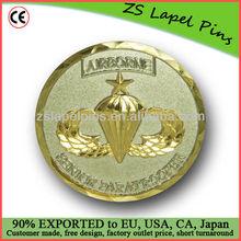 diamond edge cut challenge coins