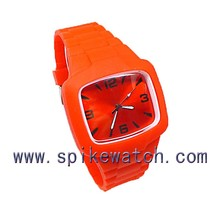 Wholesale promotional 3atm waterproof rubber silicone jelly red watch