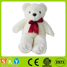 Atacado feito à fábrica de material barato urso de pelúcia barato urso de pelúcia com laço