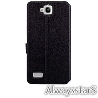 High Quality Flip Wallet Leather Back Cover for Huawei Honor 3C Case