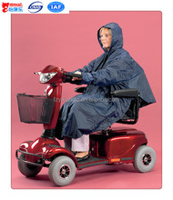 Deluxe Scooter poncho polar fleece poncho for elderly people waterproof scooter clothing