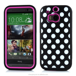 High Qulity Rugged Robot Shockproof Hybrid Combo Case For HTC One M8