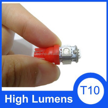 High performance 5050 5SMD 12 volts 5w5 bulb light, T10 high quality tubes
