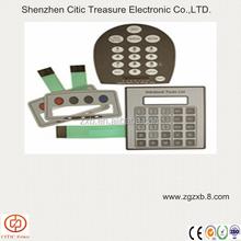 Graphic overlay key membrane tactile keypad