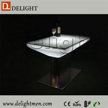 China supplier remote control illuminated RGB bar used led bar table with batter operate