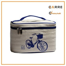 cotton canvas tote insulated cooler lunch bags