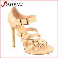 Ladies high heel platform fashion sandals sexy strapy sandal shoes