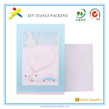 Full color print happy birthday handmade greeting card with envelope