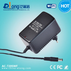 cool design 0.6mm pinhole Built-in microphone 720P HD Functional AC Power Adaptor WiFi wireless hidden Camera