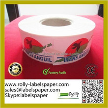 Self Adhesive Labels Dricet print Airline Baggage Tags Printing&baggage tags