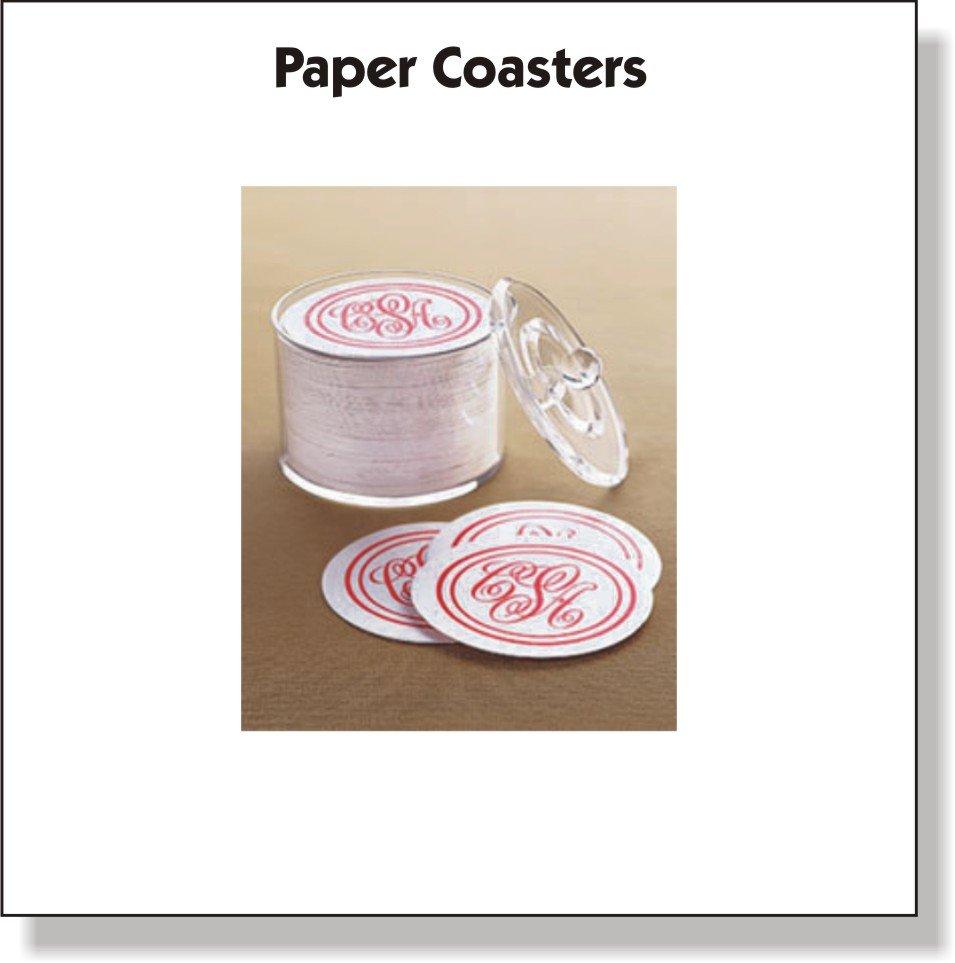 custom paper coasters