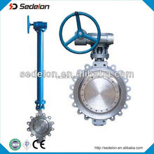 LUG type solf sealed flanged Butterfly Valve gear operated