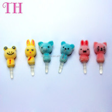 factory wholesale 10g cute animal resin anti dust plug for samsung