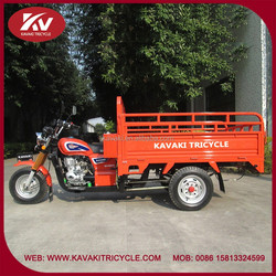 Wholesale Guangzhou popular KAVAKI brand blue good quality 3 wheel cargo tricycle with cabin