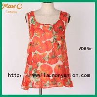 New arrival tomatoes printed trendy new latest tops for girls AD65#