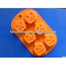 Halloween pumpkins shaped biscuit pastry fondant silicone mold