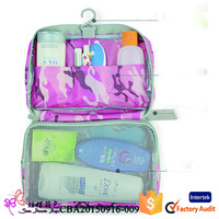 2015 unisex foldable waterproof haging toiletry bag for travel
