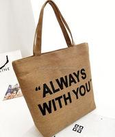 cotton bag/ recyclable cotton drawstring bag/ heavy duty cotton canvas shoulder bag