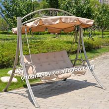 3 seat metal outdoor swings, garden swing for adult