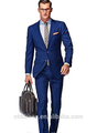 Nuevo diseño slim fit, 100% de lana, Construcción a medida de traje azul de negocios