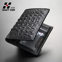 QB530 luxury genuine crocodile leather men travel wallet