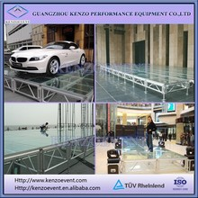 mobile acrylic platform stage with aluminum frame