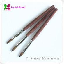 Natural wooden handle high quality acrylic nail brush japan