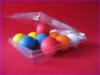 Disposable clear plastic PET clamshell packs for golf ball