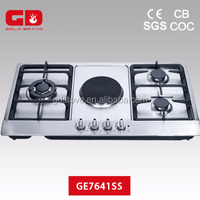 Good quality metal knob 4 buner gas cooktop infrared stove for home appliance