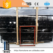 New style black marble with white vein marble floor tile