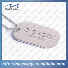custom hot sell wholesale 3D silver zinc alloy dog tag