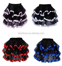 Lolita TUTU saia de gaze Underskirt camada de malha dança Petticoat saias