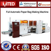 RZ-320 Wenzhou Retail Kraft Paper Bag Machine With Poly Window