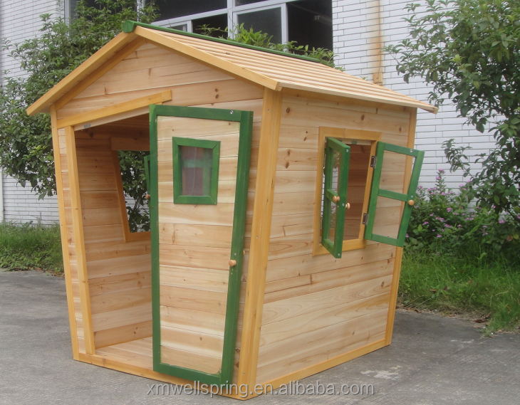 Wood children playhouse buy outdoor wood playhouse kids for Cheap outdoor playhouses
