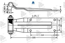 12228 semi trailer door hinge