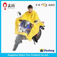 Maiyu Fashional designs pvc rain poncho for motorcycle