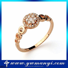 Latest trends orange crystal ring for engagement and wedding jewelry