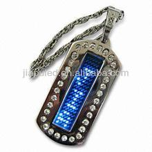 The Programmable Text led clothing badge scrolling message t shirt