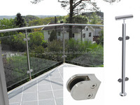Outdoor glass railing easy install/ balcony glass panels