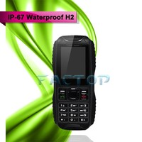 Waterproof 2g dual core cell phone with high volume