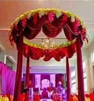 Luxury Wedding Backdrop with Beautiful Swag Wedding Drape And Curtain Wedding Decoration