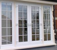 PVC Double Casement Door with screen/Side Hinged Door/window girll design