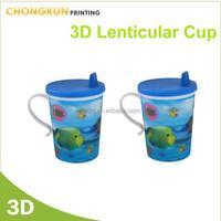 hot sales 3d kids personalized plastic mugs