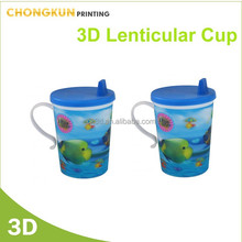 hot sales 3d kids personalized plastic mugs