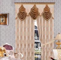 Custom window drapes blackout luxury curtain jacquard blackout curtain