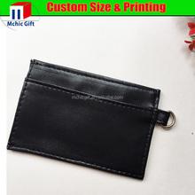 2015 Hottest selling men's pvc pu card holder leather credit card bag