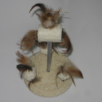 sisal cardboard cat scratcher with spring cat toy
