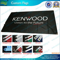 Good Quality 100% Polyester Advertising Flags for Brand and Promotion with Custom Logos (NF01F06007)