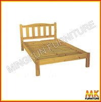 simple pine bed