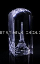 3 D laser imaging The crystal Eiffel Tower souvenirs gifts